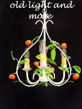 kleiner florentiner Orangen Kronleuchter Lüster Deckenlampe ÜBERARBEITET