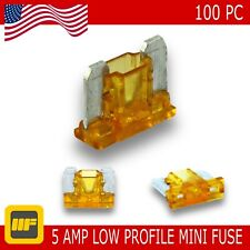 100 Pack Low Profile Mini Blade Fuse 05 Amp Marine SUV Truck Auto RV Automotive
