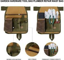 More details for garden tool belt green handy cuttings bag sturdy pockets adjustable apron uk
