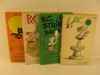 4 B.C. Books by: Johnny Hart 1959,1969,1961 and 1974