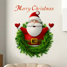 Christmas Santa Claus Wall Sticker Window Door Background Decor Removable Mural