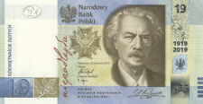 19 zlotych - Poland Banknote - 100th Anniversary of the PWPW - 2019