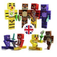 *UK 4x Five Nights At Freddies FNAF Toy PVC Figures Mine Block Games Craft Roblo