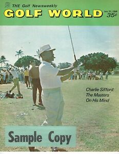 1969 1/21 Golf World magazine Charlie Sifford The Masters on his Mind GOOD