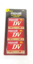 Maxell Mini DV Digital Video Cassette 60 Minutes 3 Pack New