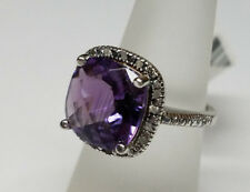 Victoria Townsend Purple Amethyst Diamond 925 sterling Silver Womens Size 7 Ring