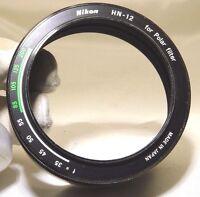 Genuine Nikon HN-12 Hood for Polar Filter 52mm complete