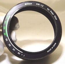 Genuine Nikon HN-12 Hood for Polar Filter 52mm complete