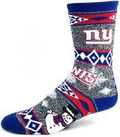 New York Giants Football Ugly Holiday Snowman Sweater Crew Socks