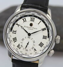 Orologio Edward East WorldTimer Fuso Orario Mov. SEIKO VD78 Japan's Nuovo €.445