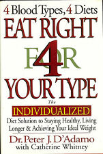 EAT RIGHT FOR YOUR TYPE  - by DR. PETER J. D'ADAMO  -  HB/DJ - 1996