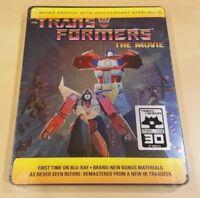 The Transformers Movie 30th Anniv. STEELBOOK Edition BLURAY BR 4K RARE! NEW! USA