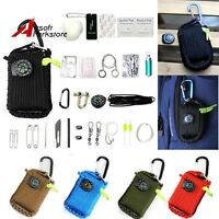 1x Outdoor 550 Paracord Grenade 29 Tools Survival Emergency Kit Camping EDC Gear