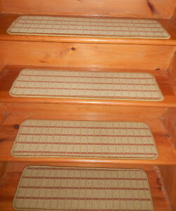13 Step 9'' x 29'' 1 Landing 26'' x 29'' Stair treads Tufted carpet 100% Wool  .