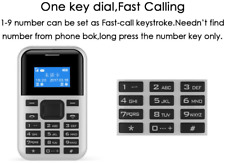 *New* Aeku C8Xfor U.S. Mini Card Feature Phone w/Talk Text - White