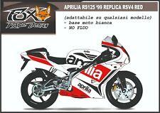 Stickers stickers bike kit for aprilia rs 125 Replica tricolour Lion rs125 bike