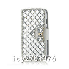 Handmade Magnetic Bling Luxury Diamonds Crystal Leather wallet flip Cover Case P