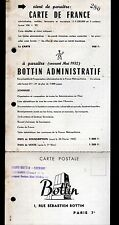 """CHEVANNES & PARIS (89 / VII°) Carte d'Entreprise """"DIDOT-BOTTIN"""" Abonnement 1952"""