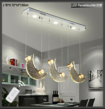LED Hanging Light 1668 Mondkristall Remote Control Colour Separately Switchable