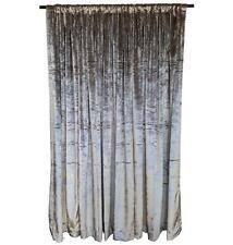 "Silver Velvet Curtain 96"" H Panel Window Treatment Drape w/Rod Pocket Backdrop"