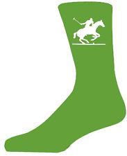 Alta Qualità Calze verde con un giocatore di POLO, bellissimo regalo di compleanno