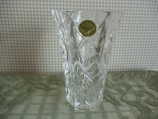 "Cristal d'Arques 24% Genuine Lead Crystal Cut Glass VASE from France 5"" T ~ MINT"