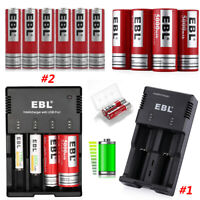 Lot 3.7V 18650 26650 Li-ion Rechargeable Battery + Charger For 16340 18650 AA AA