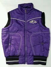 Baltimore Ravens Women's Puffer Vest Purple NFL Team Apparel Small