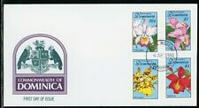 Dominica Scott #1667//1673 FIRST DAY COVER Orchids Flowers FLORA $$
