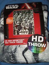 Nwt Star Wars Storm Trooper Army The Force Awakens HD Plush Fleece Throw Blanket