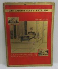 1936 H.T. Cushman Furniture Catalog Modern & Colonial Furniture