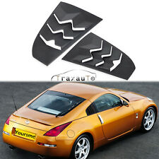 2PCS Side Window Louvers Sun Shade Cover Fits for 2003-2008 Nissan 350Z