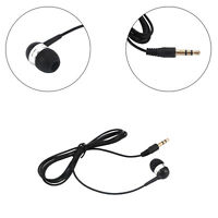 3.5mm Universal Single Side Headset In Ear Mono Wire Earphone Earbud Headphone