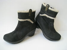 JAMBU VALENCIA SPORTY WEDGE DESIGN BLACK SUEDE LEATHER ANKLE BOOTIE US 6.5M HOT