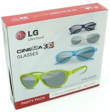 LG AG-F315 PARTY PACK 4pcs for Cinema 3D Glasses Works on ANY TVwith PASSIVE
