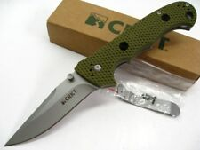 COLUMBIA RIVER CRKT OD Green Hammond CRUISER Plain Folding Pocket Knife! 7904DG