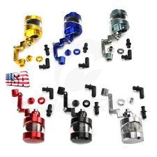 CNC Brake Clutch Tank Oil Fluid Reservoir Cup W Bracket For Universal Motorcycle