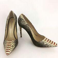 Alexandre Birman Woman's Multi Color Python Leather Stiletto Pumps Size 38.5