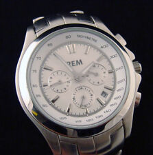 4 Dials & 6 Hands Day/Date Just Automatic Stainless Steel Wristwatch
