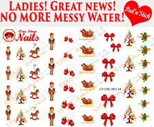 Christmas Nutcracker Clear Vinyl PEEL and STICK Nail Decals