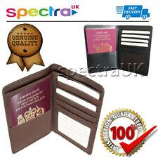 Genuine Real Leather Elegant Passport Holder Wallet Travel Card Case Organizer