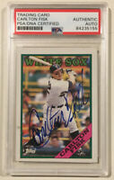 1988 Topps CARLTON FISK Signed Autographed Baseball Card PSA/DNA White Sox