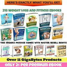 218 Weight Loss & Fitness eBooks, Master Resell Rights (Only 2¢ per eBook) cd n