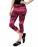 New IDEOLOGY Women's Printed Capri Cropped Leggings Pink Yoga Active Workout
