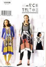 VOGUE SEWING PATTERN 9108 MISSES 16-26 MARCY TILTON TOP DRESS LEGGINGS PLUS SIZE