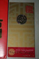 (PL) 2012 Australia $1 Year of the DRAGON Unc Coin ROYAL AUSTRALIAN MINT RAM