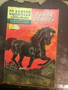 Classics Illustrated Black Beauty by Sewell #60 HRN# 167  1966