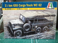 Italeri 6230 - 1 1/2 ton 6x6 Cargo Truck WC 62 scale kit 1/35