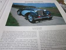 Internationales Automobil Archiv 1 Geschichte 1032a Standard Automobile England