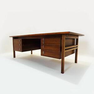 Large vintage Danish Mid Century Rosewood desk by Arne Vodder for Sibast